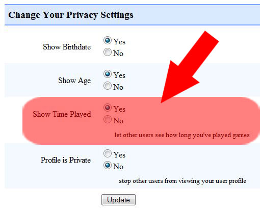 New Privacy Option