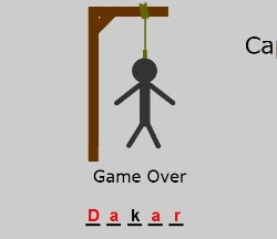Capital City Hangman Game