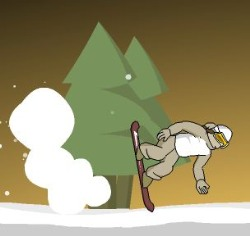 Downhill Snowboard 3 Game