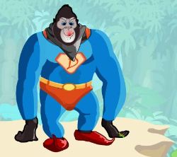 Funny Chimp Dressup Game