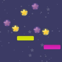 Colored Star Catch Game