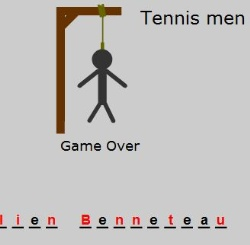 Tennis Hangman Game