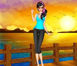 Sunset Dress Up Game