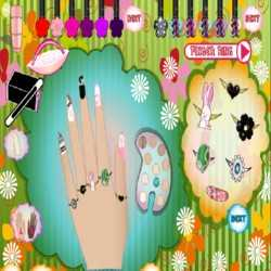 Pretty Prom Nail Design Game