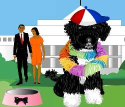 Obama's Dog Dress Up Game