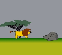 Running Lion Game