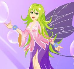 Beauty Purple Bubble Fairy Game