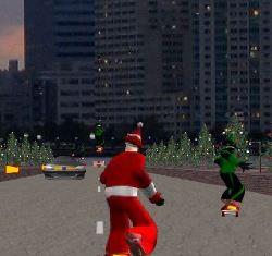 Skateboarding Santa Game