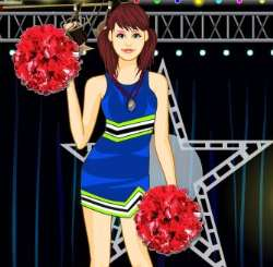 Cheerleader Girl Dress Up Game
