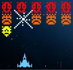 80's Space Invaders Game