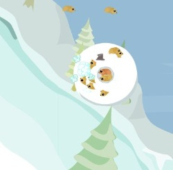 Snow Lemmings Game