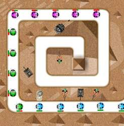 Pyramid Tower Defense Game