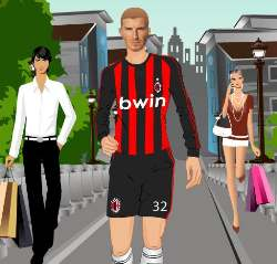 David Beckham Dress Up Game