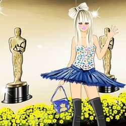 Lady Gaga Red Carpet Dress Up Game