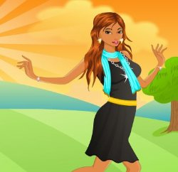 Garden Girl Dress Up Game