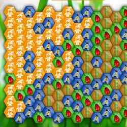 Hexagon of Worms Game