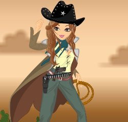 Billie Cowgirl Dress Up Game