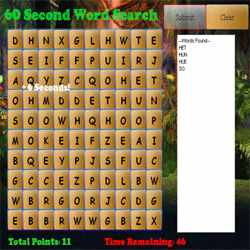 60 Second Word Search Game