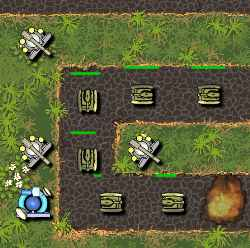Toy Tank Defense Game