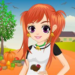 Thanksgiving Girl Dress Up Game