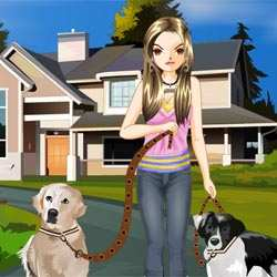 The Pretty Dog Walker Game