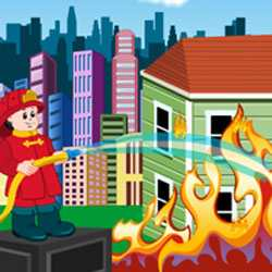 City Fire Fighter Game