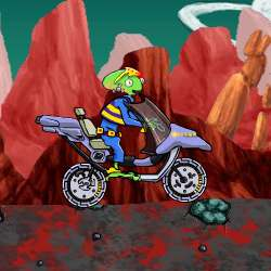 Alien Bike Game