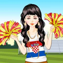 Euro 2012 Cheerleader Dress Up Game