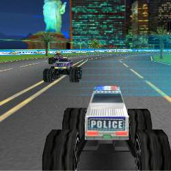 3D Police Monster Trucks Game