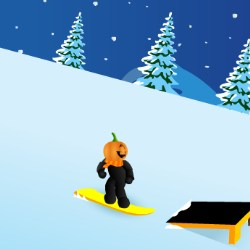Pumpkin Snowboard Game