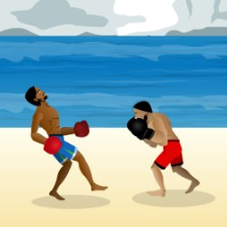 Beach Fighting Game