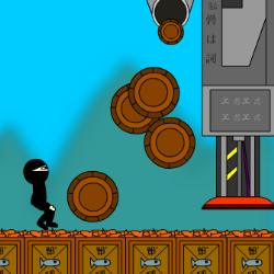 Super Ninja Sushi Barrel Jumper Game