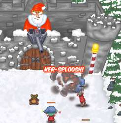 Santa's Castle Defense Game