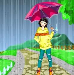 Rainy Days Dressup Game Game