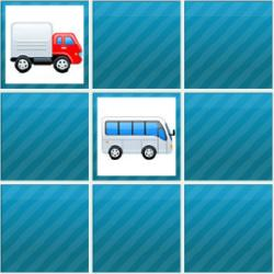 Super Vehicles Memory Game