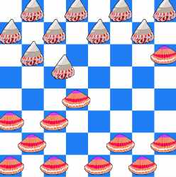 Checkers in the Sea Game