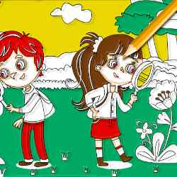Kids Fun Time Coloring Game