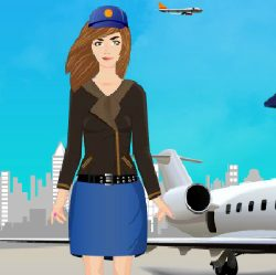 Beautiful Pilot Dress Up Game