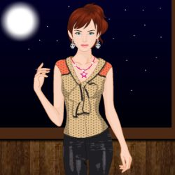 Leather Style Dress Up Game