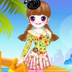 Floral Prints Dress Up Game