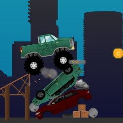 Monster Truck Obstacle Course Game