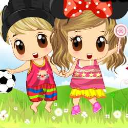Baby Boy And Girl Dress Up Game