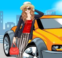 Casual Driver Girl Dress Up Game