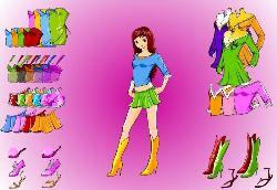 Anime Girl Dress Up Game