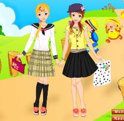 Cute Twins Dress Up Game