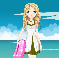 Surfing Girl Dress Up Game