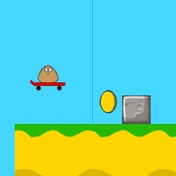 Pou Cliff Jump Game