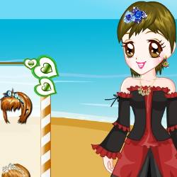 Glam Beach Dress Up Game
