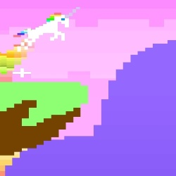 Retro Unicorn Attack Game