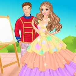 Princess Painting Dress Up Game